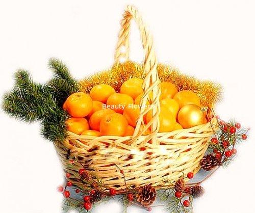Корзинка с мандаринами своими руками