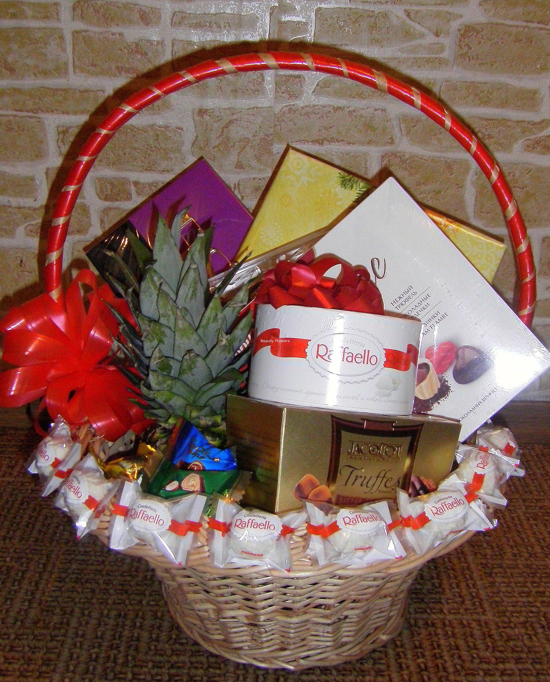 Оформление корзины для подарка 22