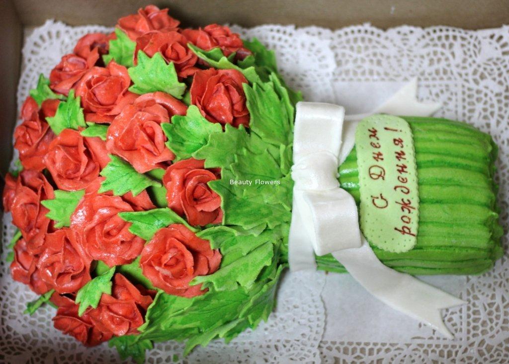 Торт букет роз пошагово